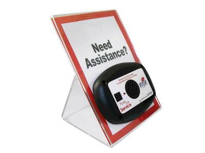 Advanced Wireless Communications Large Acrylic Stand with Signage for MINI Call Box - 915852 - MCB-AH-L